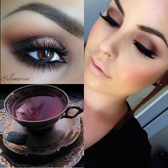 "Anastasia Beverly Hills says ""Burgundy was the first color of my packaging... many years ago and to me it remains forever elegant, mysterious and beautiful. Helping me showcase the beauty of this color are two gorgeous artists: Top left is Ely Marino Top right is Come On Closer Makeup Artistry"""