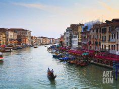 The Grand Canal, Venice, UNESCO World Heritage Site, Veneto, Italy, Europe Photographic Print by Amanda Hall at Art.com