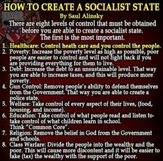 "Wake up, you ""Progressives""! Look at this and think further ahead than tomorrow! Saul Alinsky has been a huge inspiration and mentor to both Barrack Hussein Obama and Hillary Clinton. Rules For Radicals, Socialist State, Heath Care, Political Quotes, Political Posters, Conservative Politics, It Goes On, New World Order, Democratic Party"
