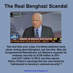 The REAL Benghazi scandal....poooor GOP.  This is all they have, and it isn't even accurate.  I never hear them complaining about faulty CIA info.