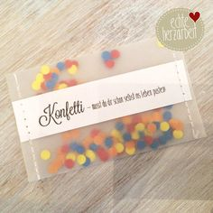 This confetti consists of punched paper in four different colors. This confetti consists of punched paper in four different colors. Just blow it into your life yours Birthday Gift For Wife, Diy Birthday, Birthday Cards, Cute Text, Cute Christmas Wallpaper, Diy Letters, Toddler Gifts, Scrapbooking Layouts, Craft Fairs