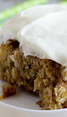 Authentic Pineapple Zucchini sheet cake with cream cheese frosting...