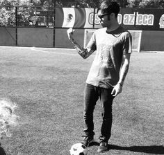 PW playing soccer
