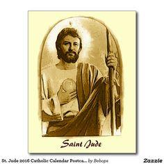 St. Jude 2016 Catholic Calendar Postcard