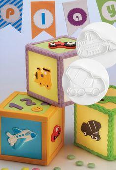 Dough/sugarpaste cutter truck 3D set 4pcs Dough Cutter, Cookie Dough, Toy Chest, Truck, Container, Toys, Party, Home Decor, Homemade Home Decor