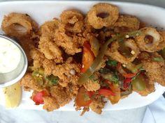Salito's Crab House & Prime Rib - Located at 1200 Bridgeway Sausalito, CA 94965 Calamari Recipes, Squid Recipes, Prime Rib Restaurant, Crab House, Fried Rice, Fresh, Dining, Ethnic Recipes, Food