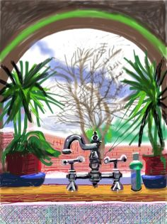David Hockney drawings on ipad David Hockney Artwork, David Hockney Ipad, David Hockney Artist, Edward Hopper, Robert Rauschenberg, Pop Art Movement, B 13, Paintings, Art