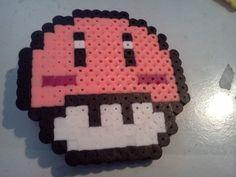 Kirby Mushroom Perler Bead Hair Clip by  by laurencx