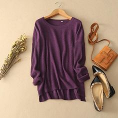 100% Pure Cashmere Skull Sweater - Deep Purple