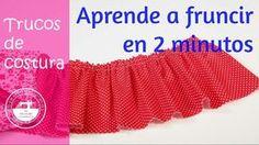 Trucos de costura: cómo fruncir en 2 minutos http://manualidades.facilisimo.com