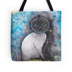 cool moon nights cat lovers beach fashion bag by melanie dann