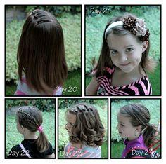 Girly Do's By Jenn: Week of Beans {School} Hair