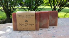 Check out this item in my Etsy shop https://www.etsy.com/listing/245734503/nag-champa-natural-handmade-soap-incense