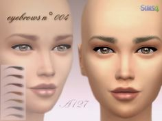 Eyebrows n° 004 at Altea127 SimsVogue • Sims 4 Updates