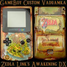 Console custom #Zelda Link's Awakening DX par VaduAmka à voir sur le blog www.link-tothepast.com