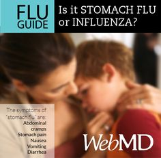 """Sometimes people mistake symptoms of stomach flu, or gastroenteritis, for the viral infection we commonly call """"flu."""" Get the facts on the flu and stomach flu here."""