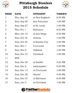 14 Best Steelers Schedule Images Steeler Nation Steelers Stuff