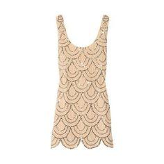 RACHEL GILBERT  Scala beaded silk mini dress