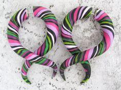 Tentacle Gauges, Fake Gauge Earrings, Faux Gauges, Taper Ear Gauges, Fake Plugs by JuneTiger on Etsy