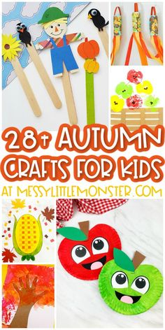 Fun and easy autumn crafts for kids. Hand Crafts For Kids, Creative Arts And Crafts, Easy Fall Crafts, Toddler Crafts, Fun Crafts, Cool Art Projects, Fall Projects, Hedgehog Craft, Paper Weaving