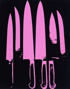 Andy Warhol: 'Knives', 1981. The Andy Warhol Musuem, Pittsburgh.
