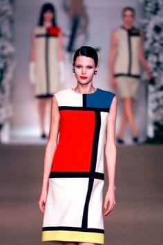 Yves Saint Laurent Mondrian dress.