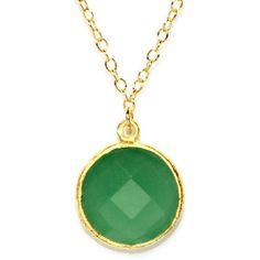 Gold Plated Sterling Silver Round Green Chalcedony Quartz Necklace ($52) ❤ liked on Polyvore featuring jewelry, necklaces, round necklace, gold plated jewelry, sterling silver jewelry, green necklace and green jewelry