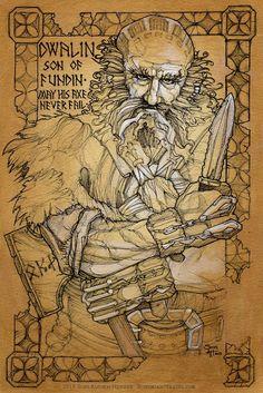 Dwalin (Hobbit illumination) work in progress, by Soni Alcorn-Hender Le Hobbit Thorin, Hobbit Book, Legolas, Fantasy Wizard, Fantasy Art, John Howe, Lord Of The Rings, Lord Rings, Desolation Of Smaug