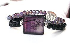 Tree of Life Bracelet Tree Bracelet Black and by BlueStoneRiver, $33.95