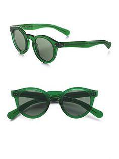 Ralph Lauren's 1940's-inspired sunglasses.