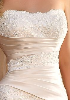 satin with lace beading... <3