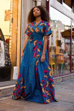 Mode en Wax, Afro style in Paris African Fashion Designers, African Inspired Fashion, African Print Fashion, Africa Fashion, Modern African Fashion, African Attire, African Wear, African Women, African Shop