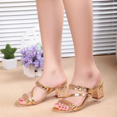 New Style sandals With Rhinestone