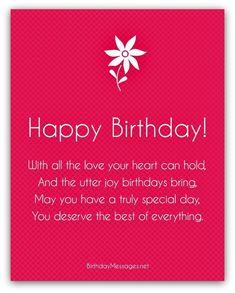 Happy Birthday Poems - Happy Birthday Messages