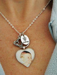 CUSTOM PHOTO NECKLACE/ Personalized pendant w/ Your Photo. $15.00, via Etsy.
