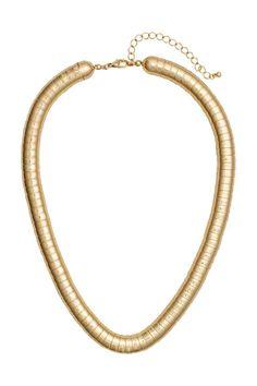 Metal necklace: Short metal necklace. Adjustable length, 48-56 cm.