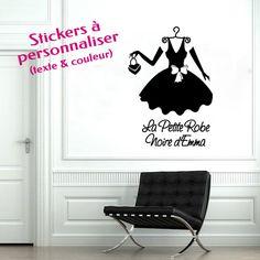 2c292de721aaf7 Sticker Personnalisé, Decoration Originale, Entier, Petite Robe Noire,  Hauteur, Décoration Chambre