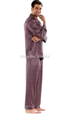 67852672305c Men s Pajamas Wholesale High Quality Pijama Men s Satin Sleepwear Imitation  Silk Pajamas for Men Summer Autumn