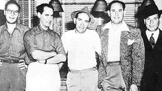 The Marx Brothers, This picture shows from left to right: Zeppo, Groucho, Chico, Gummo and Harpo.