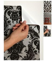 Removable wall paper! I need this for my kitchen cabinets, being a renter of a home I can't paint my white ugly cabinets....