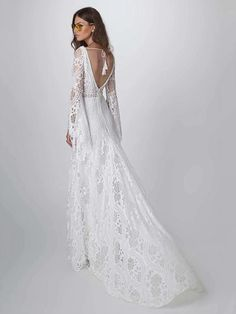 Lace Hollow Flared Sleeves Evening Dress – chicboho