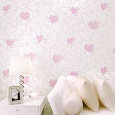 Hot Pink Black Wallpaper with Heart Hot Pink Heart Wallpaper
