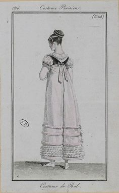 1816 Costume Parisien. Ball costume.