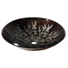 Avanity Vessel Sink in Autumn Leaf-Edgy!!