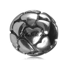 This beautiful my ball of hearts .925 Sterling Silver European charm fits Pandora, Biagi Trollbeads, Chamilia, and most charm bracelets find out more at adabele.com
