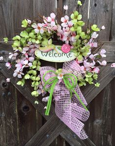 Spring Wreath Summer Wreath Spring Decor Pink & by BaBamWreaths, $69.00