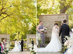 Dirtworks Landscape Architecture | Cleveland Botanical Garden - Elizabeth and Nona Evans Restorative Gardens provides the perfect back drop for a tranquil wedding