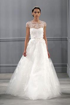 Monique Lhuillier 'Illusion' Used Wedding Dress Size 0 - Nearly Newlywed