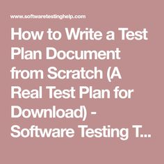 Software Testing Test Plan Templates  Qa    Test Plan