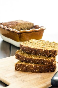 Hearty Quinoa Bread Rating: 5  Ingredients:  1 tablespoon honey or maple syrup ¼ cup warm water (105 to 110 degrees) 2 ¼ teaspoons yeast ¾ cu...